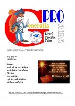 Ziarul Generatia Pro - aprilie 2013