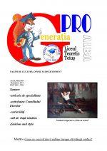 Ziarul Generatia Pro - octombrie 2014