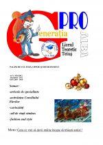 Ziarul Generatia Pro - decembrie 2012